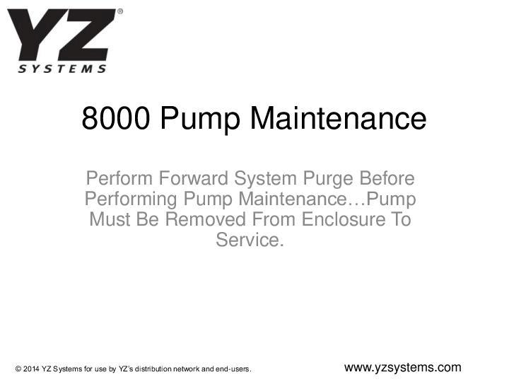 8000Pump-Maintenance